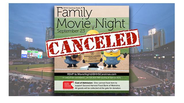 Event cancelations in Uptown Charlotte known sofar